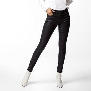 J BRAND Black Coat Steel Super Skinny Jean Size 27